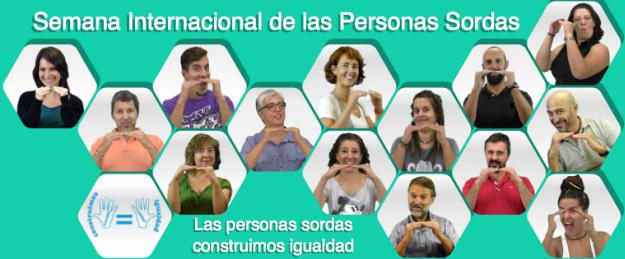 Imagen promocional de la Semana Internacional de las Personas Sordas