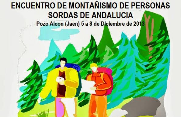 Cartel del Encuentro Montañismo de Personas Sordas de Andalucia