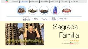 Descripción en Lengua de Signos de uno de los puntos turísticos de los que dispone la web.
