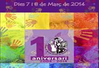 Cartel conmemorativo del décimo aniversario de la organización 'Dones Sordes'