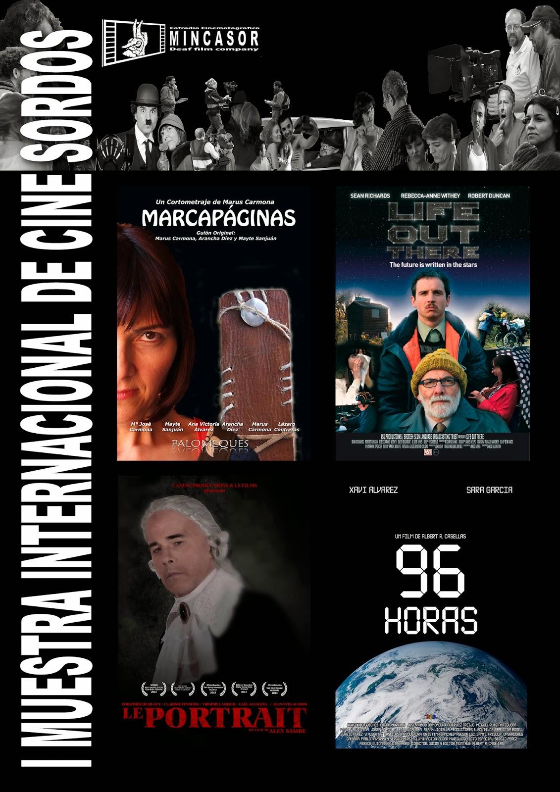 Cartel 'I Muestra Internacional de Cine Sordos'.