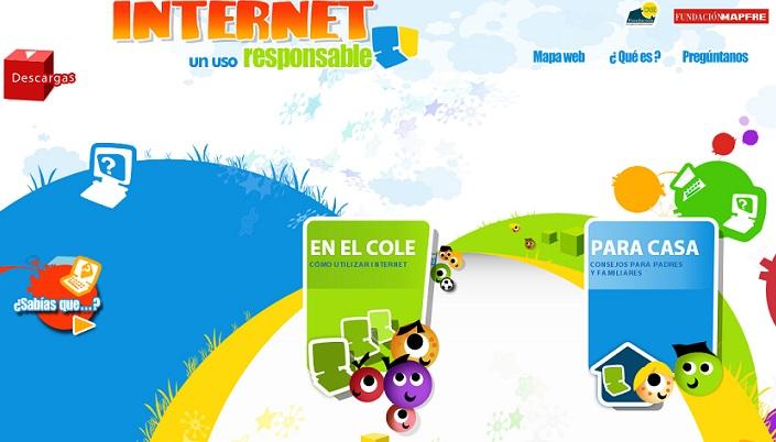 Página principal de la web 'Internet responsable'.