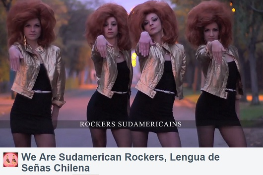 "Una peculiar versión del tema ""We are Sudamericfans Rockers"""