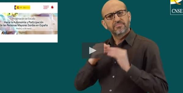 Un intérprete en lengua de signos nos habla en la web de CNSE sobre este estudio