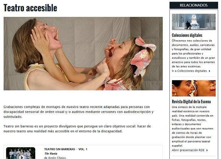 Teatro online con audiodescripción o subtitulado