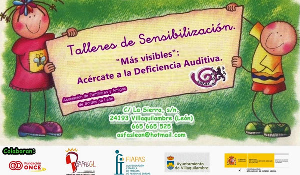 Cartel para anunciar los talleres de ASFAS León